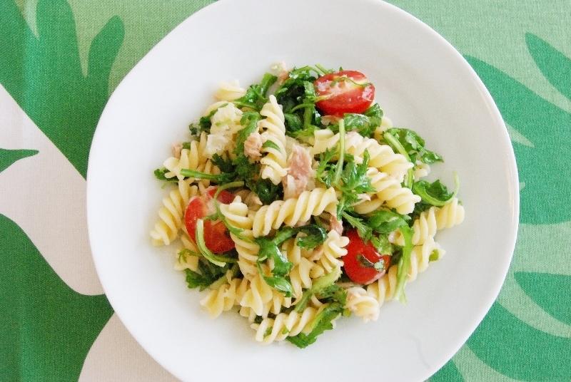 「ワサビ菜のホットサラダ」レシピ~_c0122889_08565772.jpg