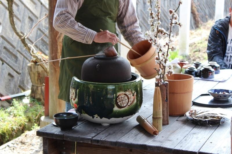 いなぶ旧暦のひなまつり2018で、茶温会桶茶_b0220318_11363317.jpg