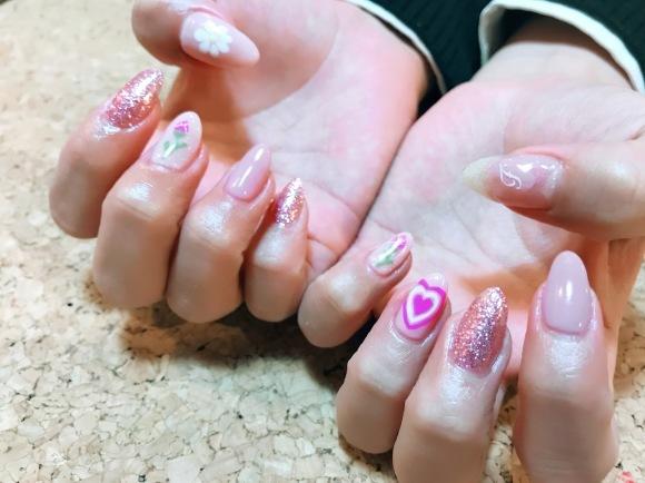 Pink Nail_a0239065_15262401.jpg