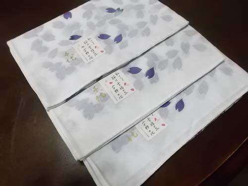 桜の風呂敷を縫う&大根とはんぺんの煮物_f0019498_15300724.jpg