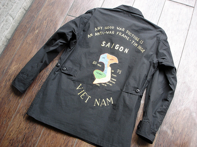 NEW : Nigel Cabourn [Fatigue Jacket - Vietnam Embroidery] &  [Jungle Fatigue Jacket - M65 Type] !!_a0132147_20212992.jpg