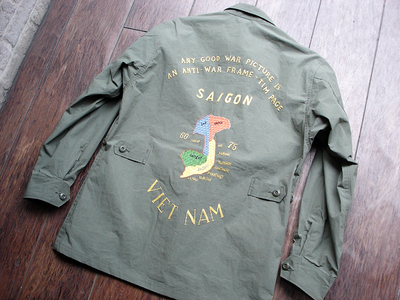 NEW : Nigel Cabourn [Fatigue Jacket - Vietnam Embroidery] &  [Jungle Fatigue Jacket - M65 Type] !!_a0132147_20545589.jpg