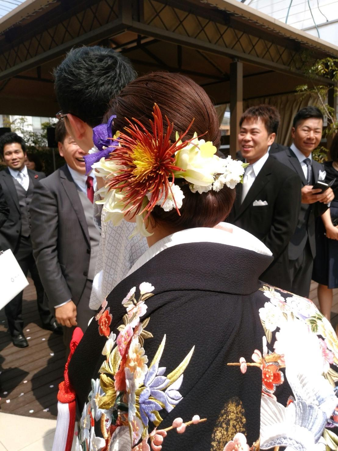 〜週末の婚礼から①〜♬_b0094378_20381902.jpeg