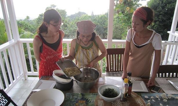 ハワイ島での料理教室_a0170699_21191445.jpg