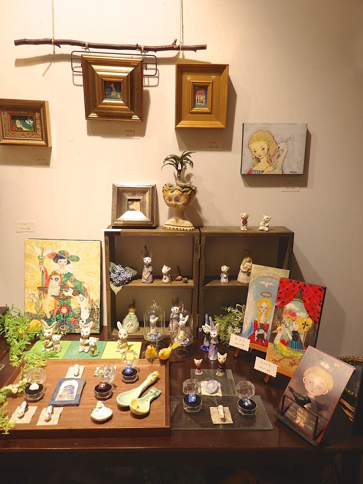 MINA TAKAHEI EXHIBVITION L\'OISEAU ET L\'ENFANT_c0127428_20561366.jpg