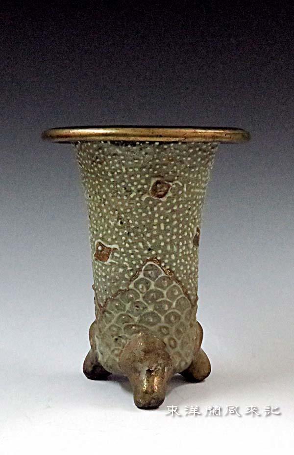 西端楽鉢(古い三河鉢)                     No.1866_d0103457_23313328.jpg