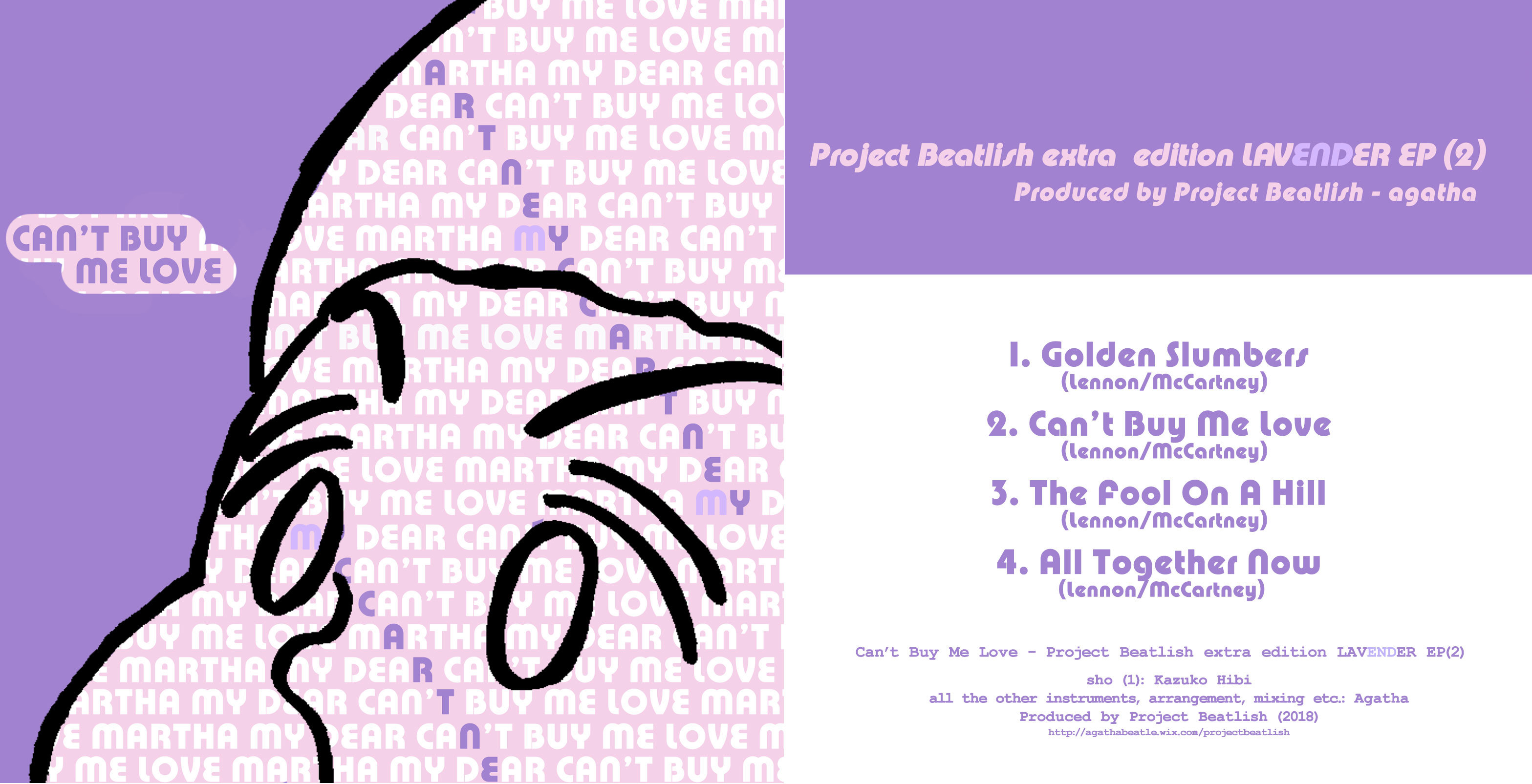 Project Beatlish extra edition - LAVENDER EP (1&2)_e0303005_19550574.jpg