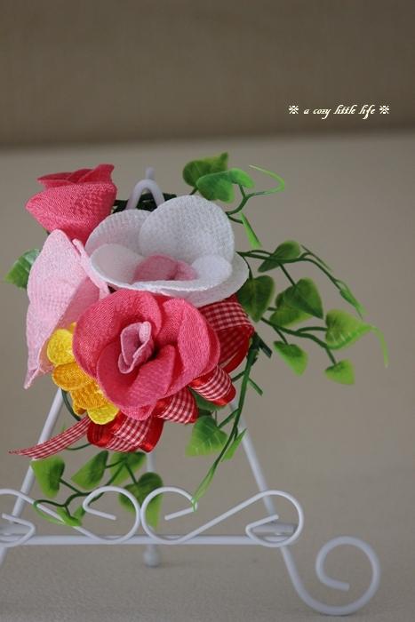 ベランダ菜園 と ハンドメイドの可愛いお花_c0250917_20314320.jpg