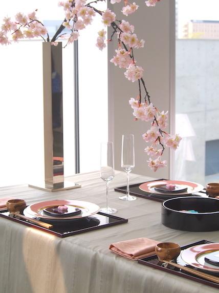 枝垂れ桜のテーブルコーディネート_f0206212_10593036.jpg