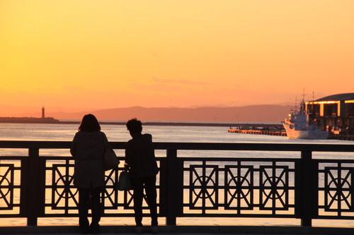 幣舞橋と夕日 4月9日_f0113639_15333592.jpg