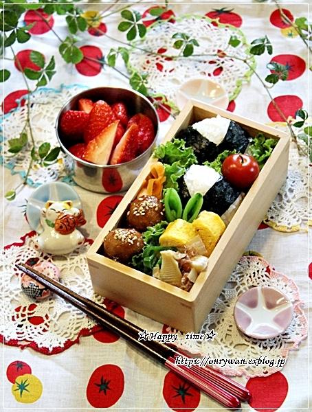 肉団子の甘酢餡弁当とタケノコたっぷり青椒肉絲♪_f0348032_18274391.jpg