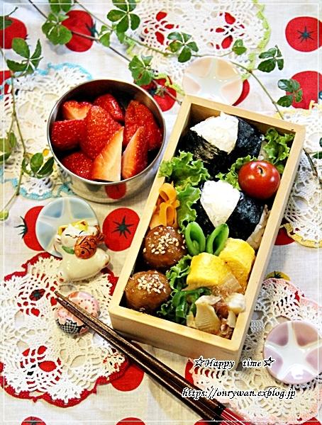 肉団子の甘酢餡弁当とタケノコたっぷり青椒肉絲♪_f0348032_18275208.jpg