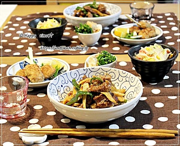 肉団子の甘酢餡弁当とタケノコたっぷり青椒肉絲♪_f0348032_18275946.jpg