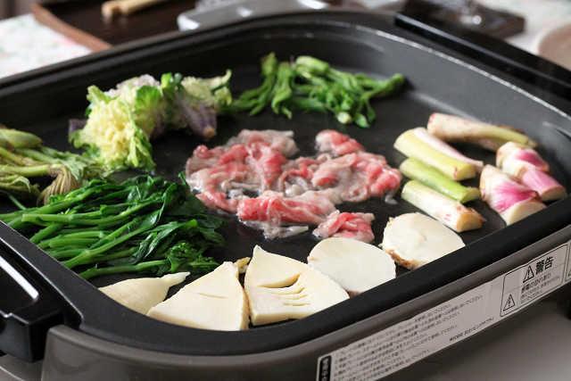 山菜と宮崎牛の鉄板焼き_d0377645_23330582.jpg