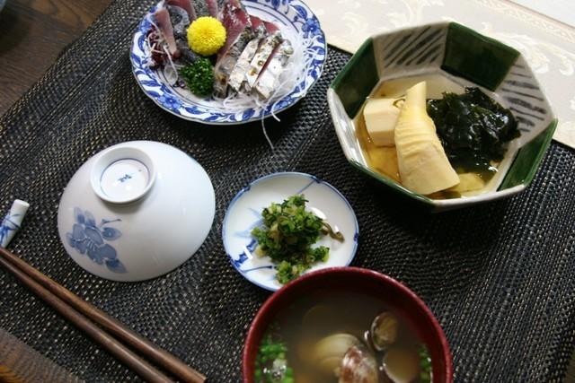 春の畑の野菜で夕飯_f0229190_16393773.jpg