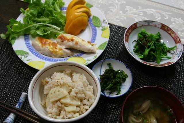 春の畑の野菜で夕飯_f0229190_16411515.jpg