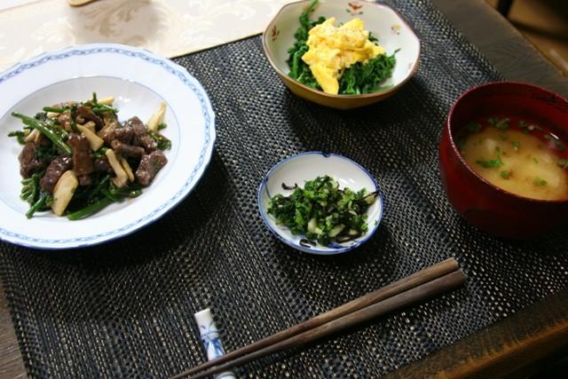 春の畑の野菜で夕飯_f0229190_16481092.jpg