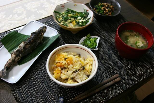 春の畑の野菜で夕飯_f0229190_16523296.jpg