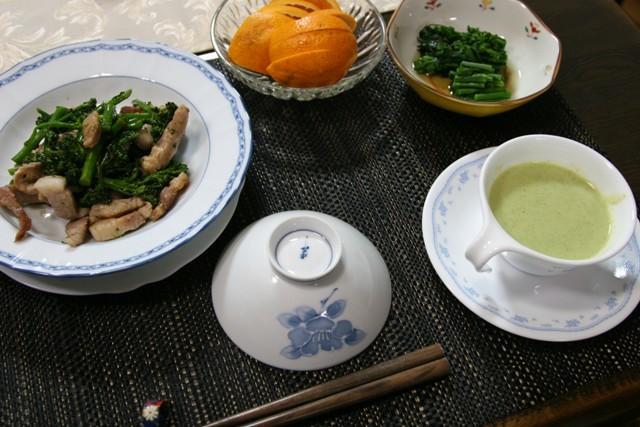 春の畑の野菜で夕飯_f0229190_19384927.jpg