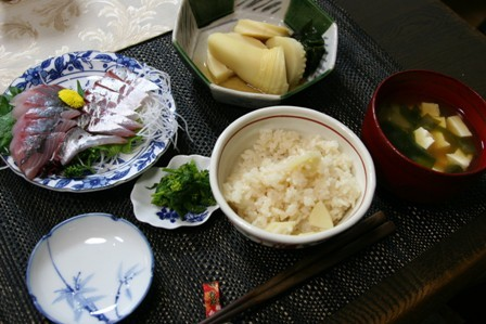 春の畑の野菜で夕飯_f0229190_19465226.jpg