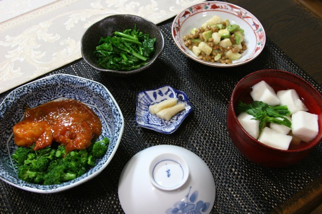 春の畑の野菜で夕飯_f0229190_19533383.jpg