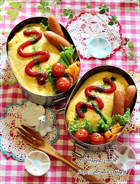 おかずに困ったら、オムライス弁当と今夜は筍入り麻婆豆腐♪_f0348032_18404928.jpg