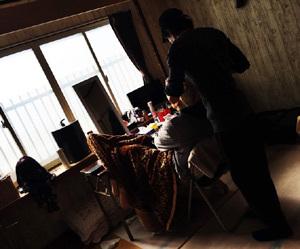 GACKT朝から撮影 黒髪ロングのウイッグだ~_c0036138_19152069.jpg