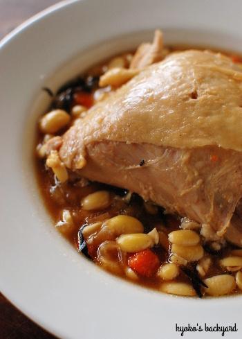 やっつけ的な大豆と鶏の煮込み_b0253205_03402868.jpg