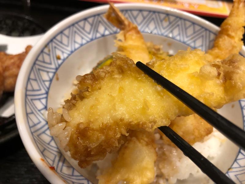 夢庵の天丼とチョコがけソフトクリーム_a0359239_18252822.jpg