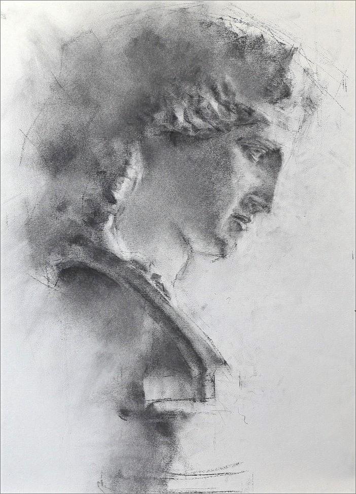 《 石膏デッサン (アリアス像) 2 》_f0159856_17150969.jpg