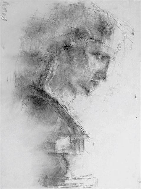 《 石膏デッサン (アリアス像) 2 》_f0159856_17240252.jpg