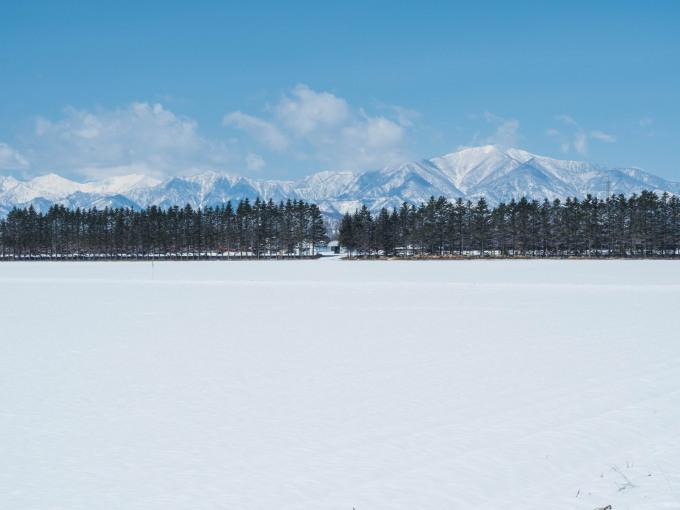 4月中旬ですが・・2夜連続積雪で畑はすっかり雪景色。_f0276498_22374501.jpg