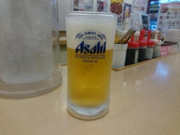 4/16夜勤明け 牛カルビ焼肉定食30%増量¥650 & 小生ビール¥180 × 2杯@松屋_b0042308_16072073.jpg