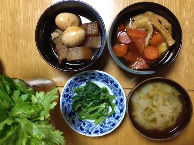 煮豚(豚肩ロース、大根、長ねぎ、たまご)_e0097895_22080686.jpg