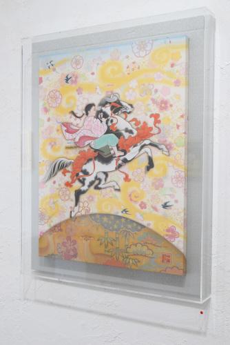 中沢 梓 大和絵展 「刻一刻」@1日目_e0272050_16073333.jpg