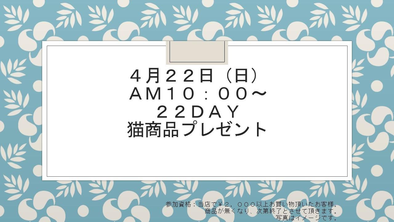 180418 22DAYイベント告知_e0181866_19191956.jpg