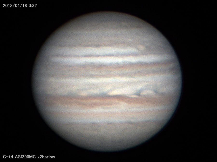 雲が切れたので木星を撮る_a0095470_21581971.jpg