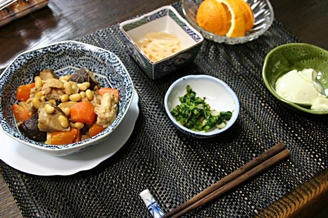 畑の野菜で夕飯4日分~♪_f0229190_13394520.jpg