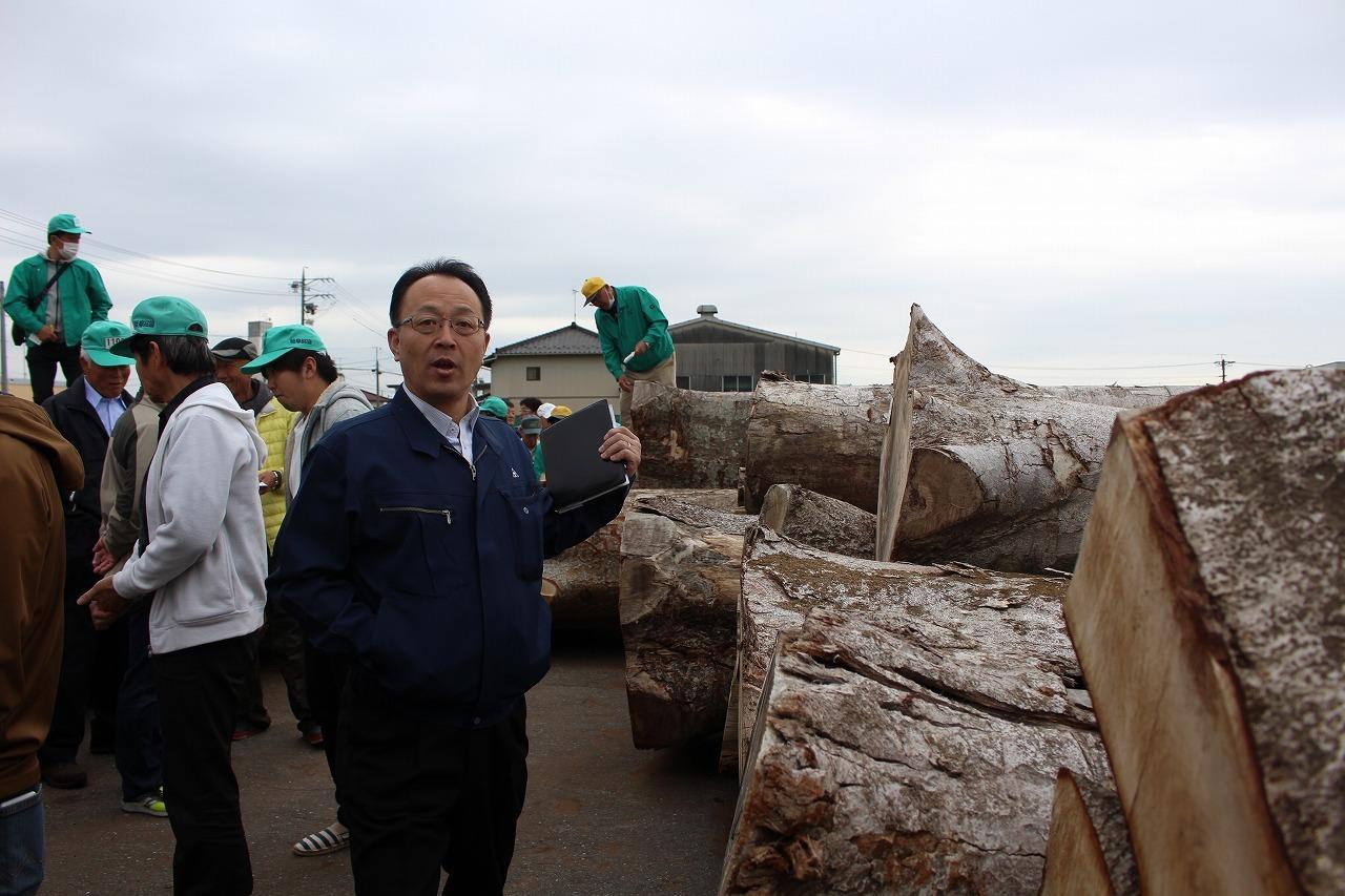 日本vs欧州調査レポート 04 日本一の広葉樹市場_a0355629_19391568.jpg