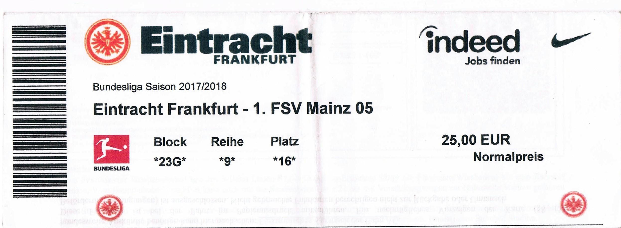 マインツ 対 フランクフルト