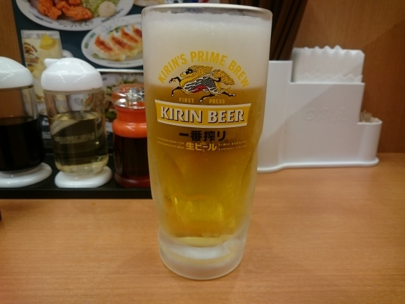 4/18 ワンタン麵 + 半チャーハンセット¥800 & 生ビール¥330_b0042308_10065506.jpg