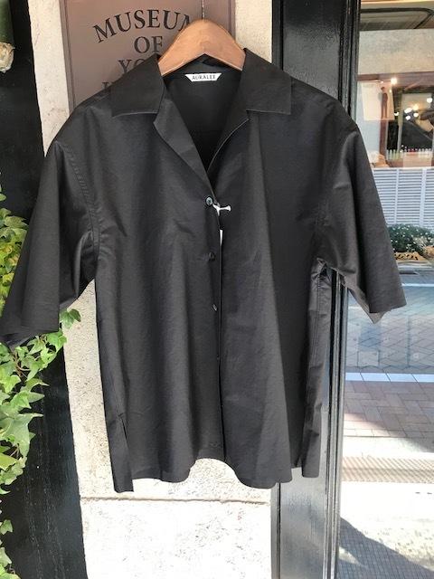 AURALEE Selvedge Weather Cloth halfsleeve shirts_a0222424_20322559.jpg