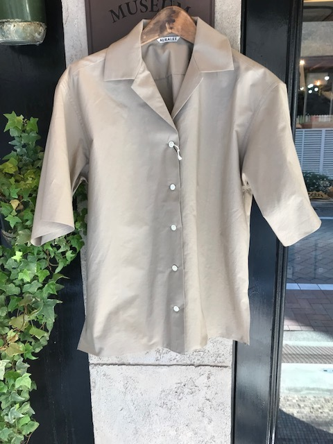 AURALEE Selvedge Weather Cloth halfsleeve shirts_a0222424_20323255.jpg