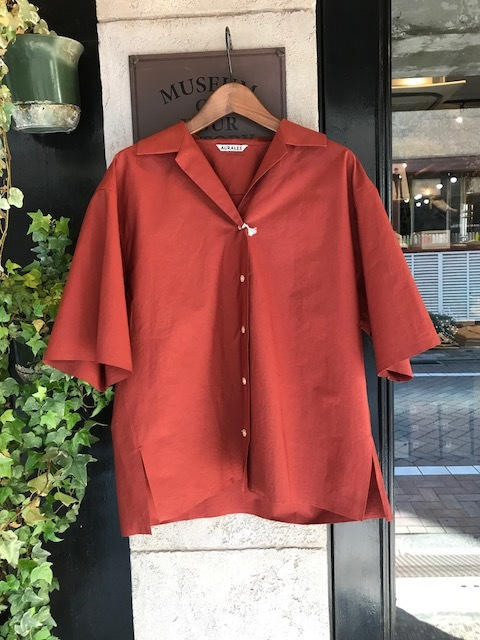 AURALEE Selvedge Weather Cloth halfsleeve shirts_a0222424_20324087.jpg