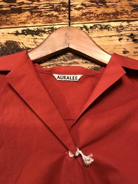 AURALEE Selvedge Weather Cloth halfsleeve shirts_a0222424_20324884.jpg