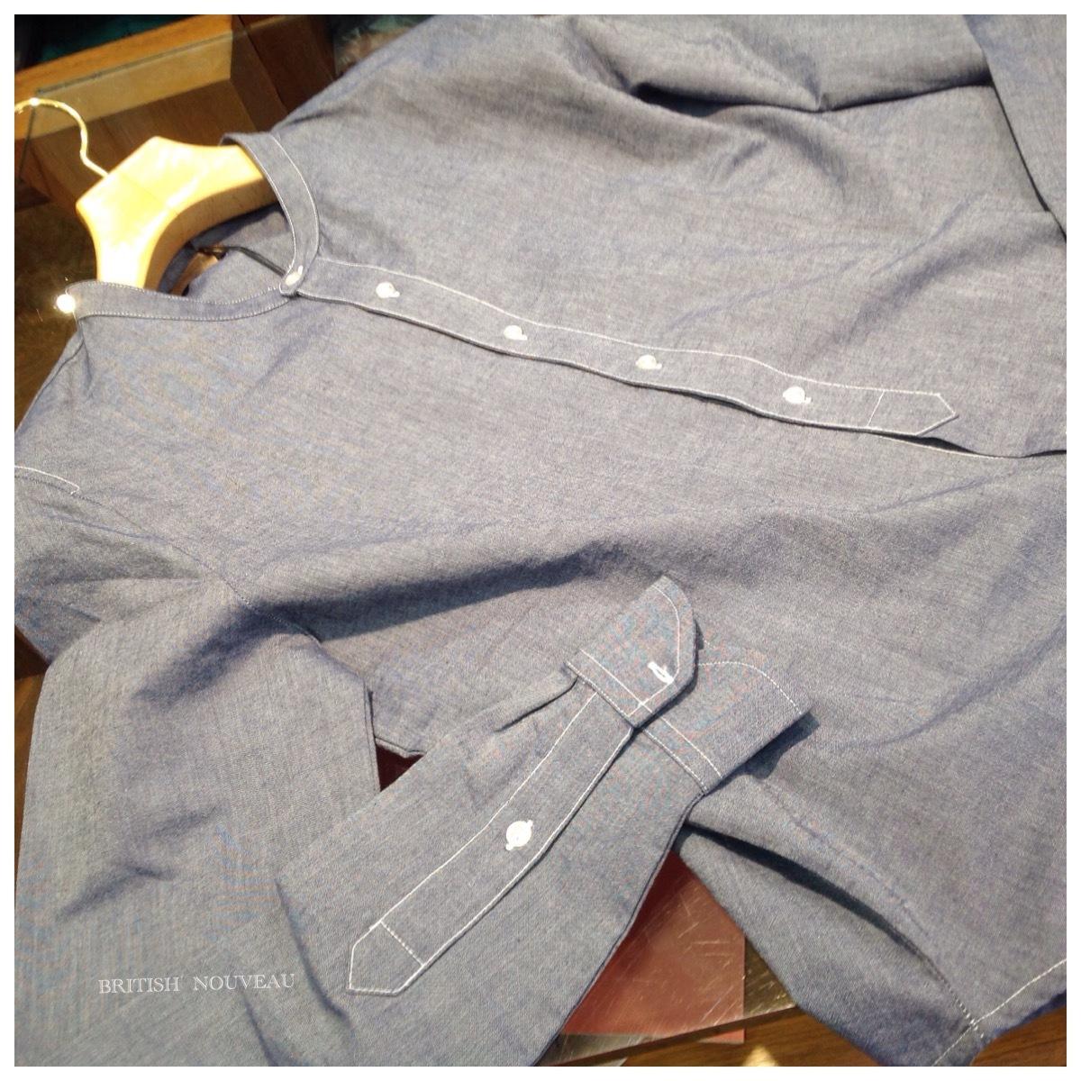 初夏を奏でる デザイン系 スタンドカラーシャツ ٩(^‿^)۶_f0039487_13113523.jpg