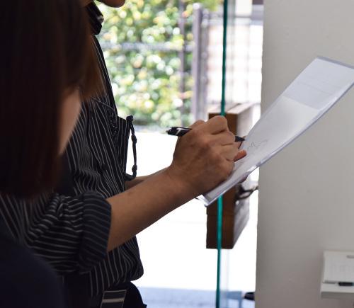 中沢 梓 大和絵展 「刻一刻」@4日目_e0272050_15595873.jpg