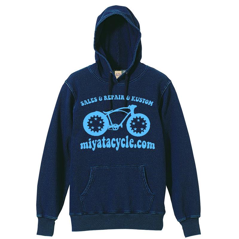 オリジナルプリントインディゴパーカー & Tシャツ 再生産_e0126901_07465811.jpg