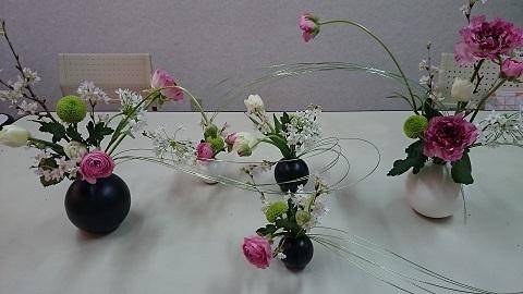 和風のアレンジメント 岐阜教室_d0222976_16472006.jpg