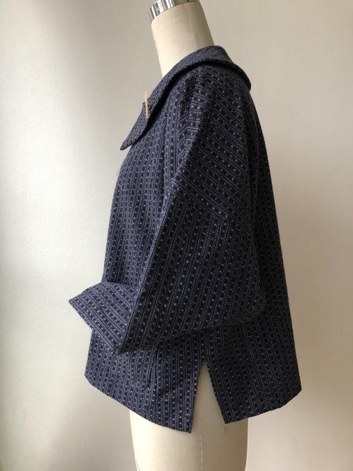 着物リメイク・絣の着物から大きな襟ジャケット_d0127925_22245756.jpg